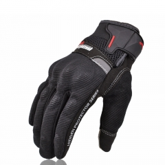 Summer Riding Gloves Off-road Racing Motorcycle Touch Screen All Means Breathable Protection gloves black m