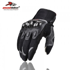 Off-road Motorcycle Riding Gloves All Means Phone Touch Screen Knight Carbon Fiber Drop Gloves black m