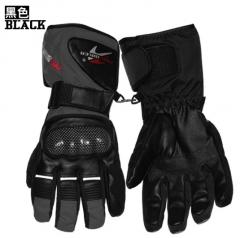Motorcycle Winter Windproof Waterproof Keep Warm Cold Outdoor Men Riding Gloves black m