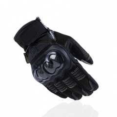 Motorcycle Riding Racing Off-road Carbon fiber Outdoor Touch Screen Locomotive Drop Gloves black m