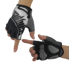 Off-road Mountain Bicycle gloves Riding Non-slip Wear-resistant Shockproof Racing gloves black m