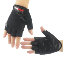 Bicycle Knight Equipment Racing Movement Outdoor Summer Breathable Sweat Non-slip Gloves black m