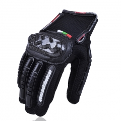 Racing Summer Breathable Motorcycle Gloves Non-slip Wear-resistant Knight Off-road Gloves black m
