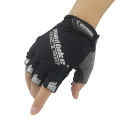 Bicycle Riding Gloves Outdoor Transparent Movement Wear-resistant Bicycle Gloves black l