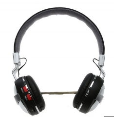 Headset Bluetooth Headset fold Card Stereo call Phone Wireless Bluetooth Headset black