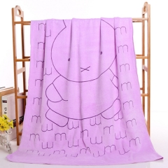 Superfine Fiber 70*140 Grinding Dijin Suction Printing Bath Towel Big Towel purple one size