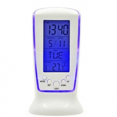 LED Electronic Watch  Luminous  Lazy Alarm Clock Mute  Perpetual Calendar Thermometer Alarm Clock white one size