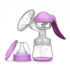 Manually Breast Pump Pregnant Women Supplies Milker Pull Milk Breast-feeding Pumping Milk Prolactin purple one size