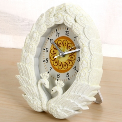Peacock Open Screen Alarm Clock Personality Creativity Home Decoration Desktop Table Clock