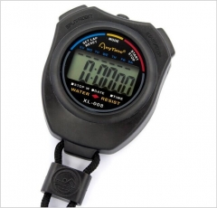 Positive Speed Stopwatch Double Track Stopwatch Profession Movement Multifunction Electronic Timer black one size