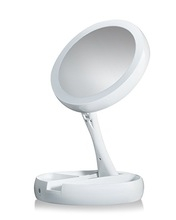 My FoldAway Multifunction Cosmetic Mirror Chargeable Table Lamp Double Mirror white one size