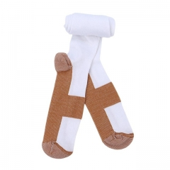 High Quality Compression Socks Unisex Anti-Fatigue Pain Relief Soft Magic Socks white S/M