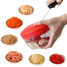 CRANK CHOP Multi-purpose Manual Rope Rope Shredder Meat Grinder Shredder Vegetable Food Machine white red one  size