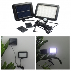 56LED Solar Light Human Body Induction Wall light Outdoor Garden lights Solar energy Street light black 14.8*12.7*2.4CM 1.5w