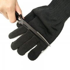 Anti Cutting Gloves Strengthen Protect Safety Self Defense Cut Breathable Work Gloves Labor Glove black one size