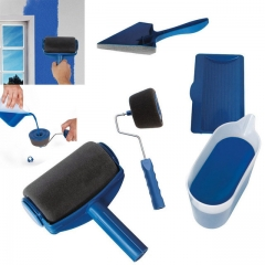 Drop ship Paint Runner Pro Roller Brush Handle Tool Pro by Renovator Point N Easy Paint Roller Brush blue one size