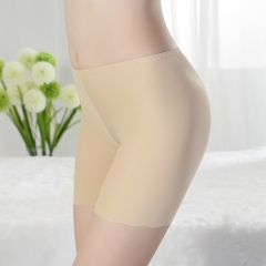 Ice Silk Safety Bottoming Ms Underwear No trace Three pants Anti-lighting Women's Safety Underwear color one size