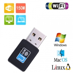 150M Portable USB Mini Wireless Network Card Wifi Signal Receiver Launcher