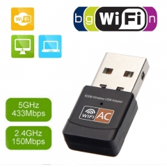 Portable Wifi Signal Receiver USB Wireless Network Card Dual Frequency Notebook Adaptation Launcher