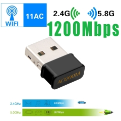 1200Mbps Portable Wifi Receiver USB Wireless Network Card Desktop  Wifi Adapter