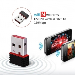 Mini USB Wireless Network Card Portable WIFI Receiver Emission line The internet Computer Adapter