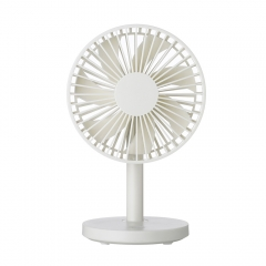 Creativity USB Desktop Fan Student Office Simple Wind Force Silent Mini Small Fan white