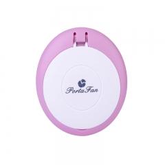 Creativity Eyelashes Hair Dryer Dryer Mini Mirror USB Handheld Air Conditioning Fan pink