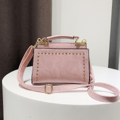 Ms Fashion Rivet Small Party Package Personality Simple Wild Shoulder Crossbody Bag pink one size