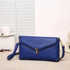 Ms Fashion Envelope Bag Shoulder Diagonal Hand Bag Trend Packet blue one size