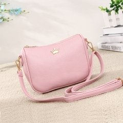 Ms Fashion Trend Shoulder Bags Simple Wild Diagonal Mini Packet pink one size