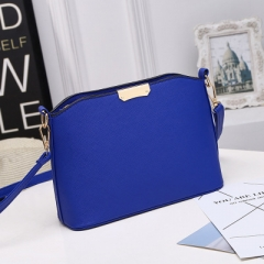 Ms Fashion Wild Shoulder Diagonal Package Mini Packet Shell Package blue one size
