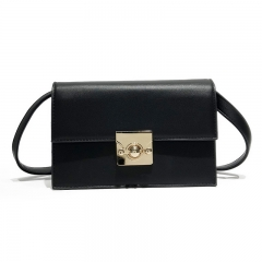 Ms Vintage Simple Wild Crossbody Shoulder Handbag Fashion Small Party Package black one size