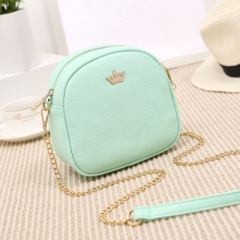 Ms Fashion Shoulder Bags Mini Small Round Package Diagonal Package ligth green one size