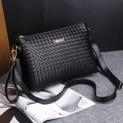 Ms Fashion Woven Pattern Shoulder Bags Casual Shoulder Diagonal Handbag black one size