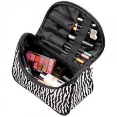 Women Makeup Cosmetic Bag Zebra Pattern Large Capacity Storage Handbag Travel Toiletry Bag zebra one size