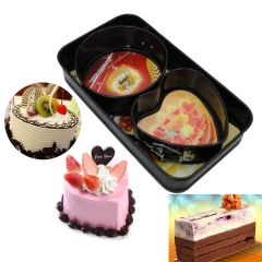 Baking Tool 3 Sets Metal Mini Fang Yuanxin Live Buckle Birthday Cake Mould black one size