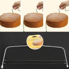 Baking Tool Stainless Steel Double line Cake Layerer Slicer Double Cut white one size
