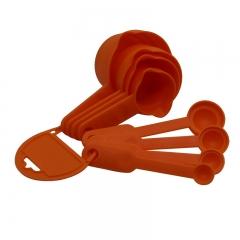 Baking Tool Plastic Baking Scale Measurement milk Powder Seasoning Spoon 8 sets Measuring Spoon orange one size