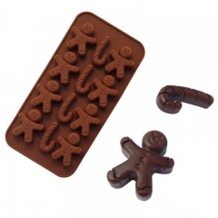 DIY Ice Model Jelly Mould 12 Companies Silica Gel Gingerbread Man Crutch Chocolate Mould coffee one size