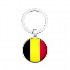 2018 Fashion Football World Cup National Flag Key Ring DIY Personality Metal key Ring Ornaments 1 one size one size