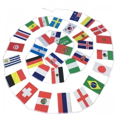 2018 Russian World Cup Football Soccer 32 Team National Flag Country World Banner Bunting 32 flags 14CM*21CM