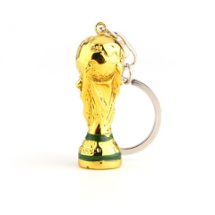 2018 Football Fan World Cup Keychain Championship Champions League Trophy Key ring Souvenir gold one size
