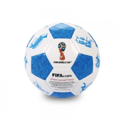 2018 World Cup Football Memorial ball High Quality Football game gift Football blue one size