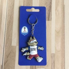 2018 Football World Cup Russia Mascot Key Chain World Cup Emblem key chain key ring for fans jewelry 1 one size