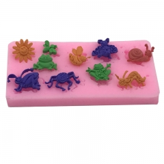 DIY Baking Tool insect Series Cake Fondant Mould red one size