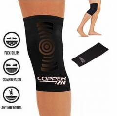 Copper Fit Large Knee Compression Sleeve Brace Joint Pain As Seen On TV black one size