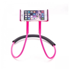Mobile Phone Holder Hanging Neck Lazy Necklace Bracket Smartphone Holder Stand For red one size