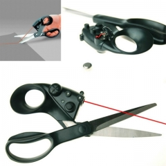 Positioning Tailor Infrared Laser Scissors Household Necessities Tailor Patchwork Hand Sewing Tool black one size