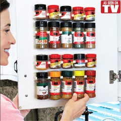 Cabinet Clip Home Organizer Stick Spice Rack Storage Gripper Holder Kitchen Gadgets Cooking tools 2 set one size