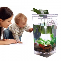 Fun Fish Self Cleaning Tank Complete Aquarium Setup Gift Volume 1L Aquarium Setup Lovely Cute white one size